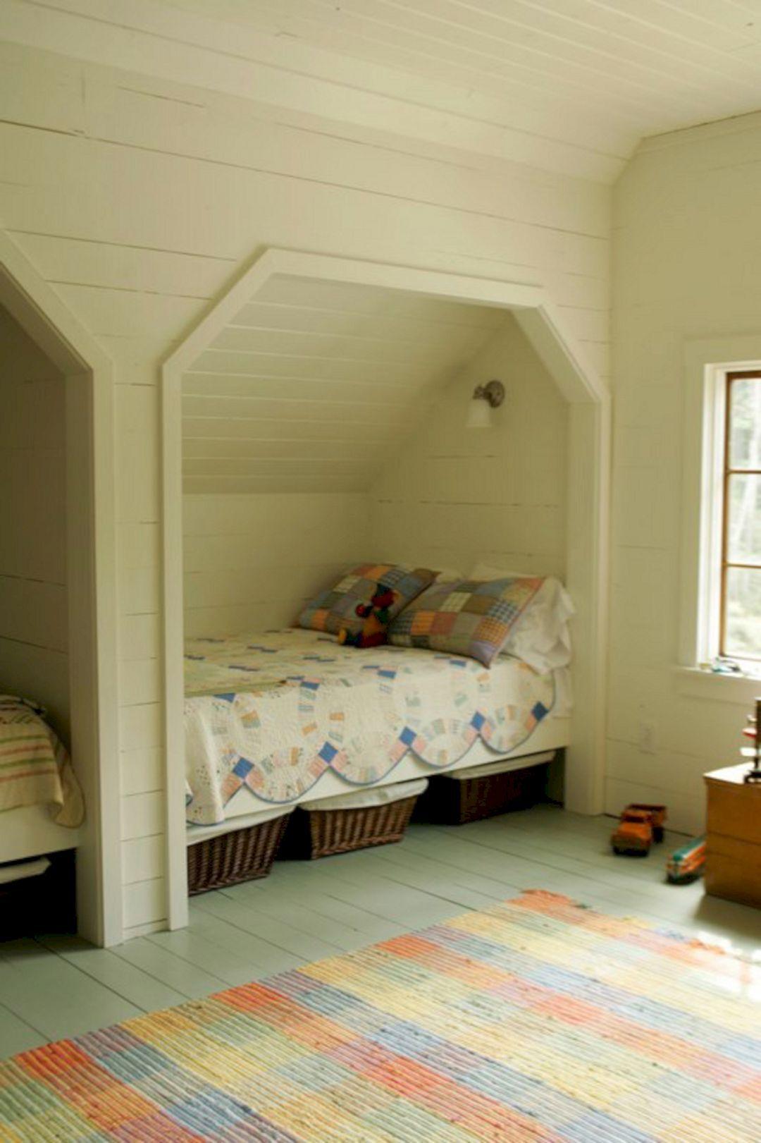 63 Comfortable Attic Playroom Design Ideas Freshouz Com Bed Nook Bunk Beds Built In Attic Rooms