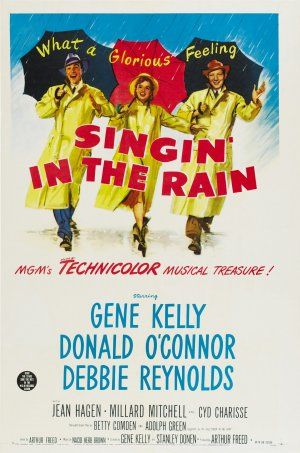 Singin In The Rain 1952 Movie Posters Vintage Classic Movie Posters Musical Movies