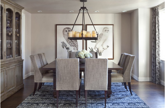 11 Dining Room With Printed Area Carpets