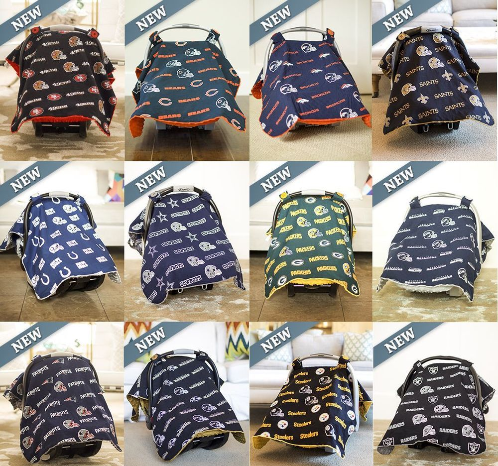 NEW NFL Licensed Car Seat Canopy Cover Baby Infant Cover Football Teams Newborn  sc 1 st  Pinterest & NEW NFL Licensed Car Seat Canopy Cover Baby Infant Cover Football ...