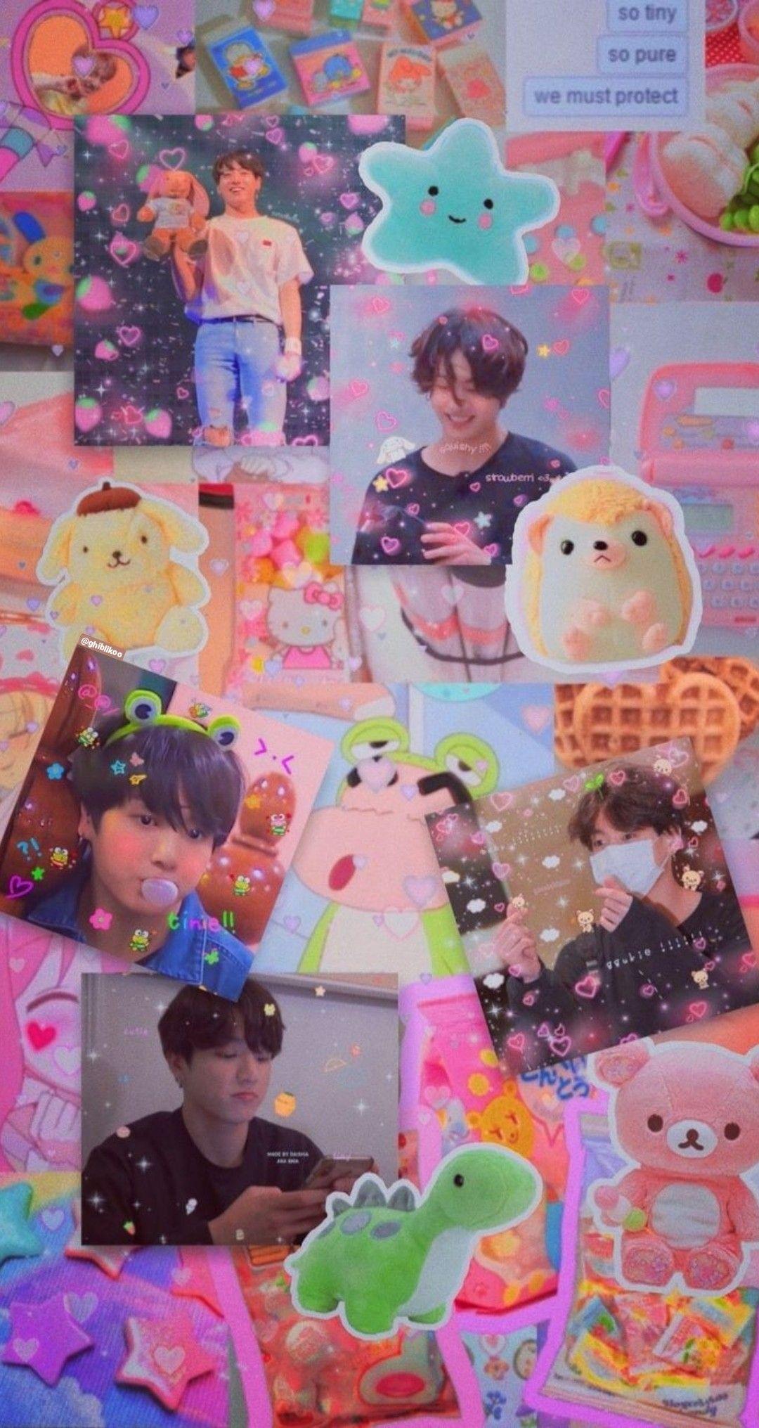 Jungkook Aesthetic Wallpaper Pink
