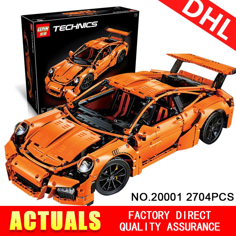 96.59$  Buy now - http://ali6r3.worldwells.pw/go.php?t=32789914207 - New LEPIN 20001 technic series 911 GT3 RS Race Car Model Building Kits mini figure Blocks Bricks Compatible 42056 Boys Gift 96.59$