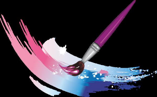 crayons de couleurs,articles d ecole Brush strokes