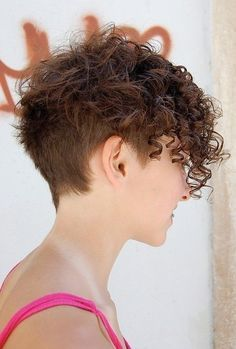 Short Edgy Curly Hair On Pinterest Curls Natural Curly Hair Curly Hair Styles Short Curly Hairstyles For Women Haircuts For Curly Hair