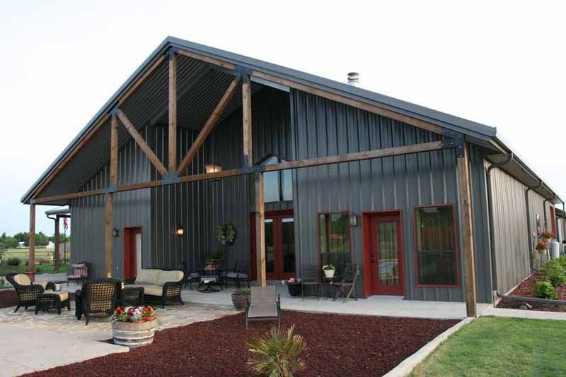 Metal buildings with living quarters advantages and for Metal shop home plans