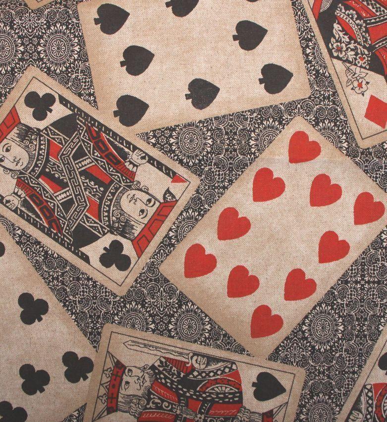sanchez bedruckt dekostoffe spielkarten stoffe. Black Bedroom Furniture Sets. Home Design Ideas