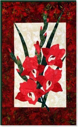 Zebra Patterns Gladiola Flower Applique Quilt Pattern Applique