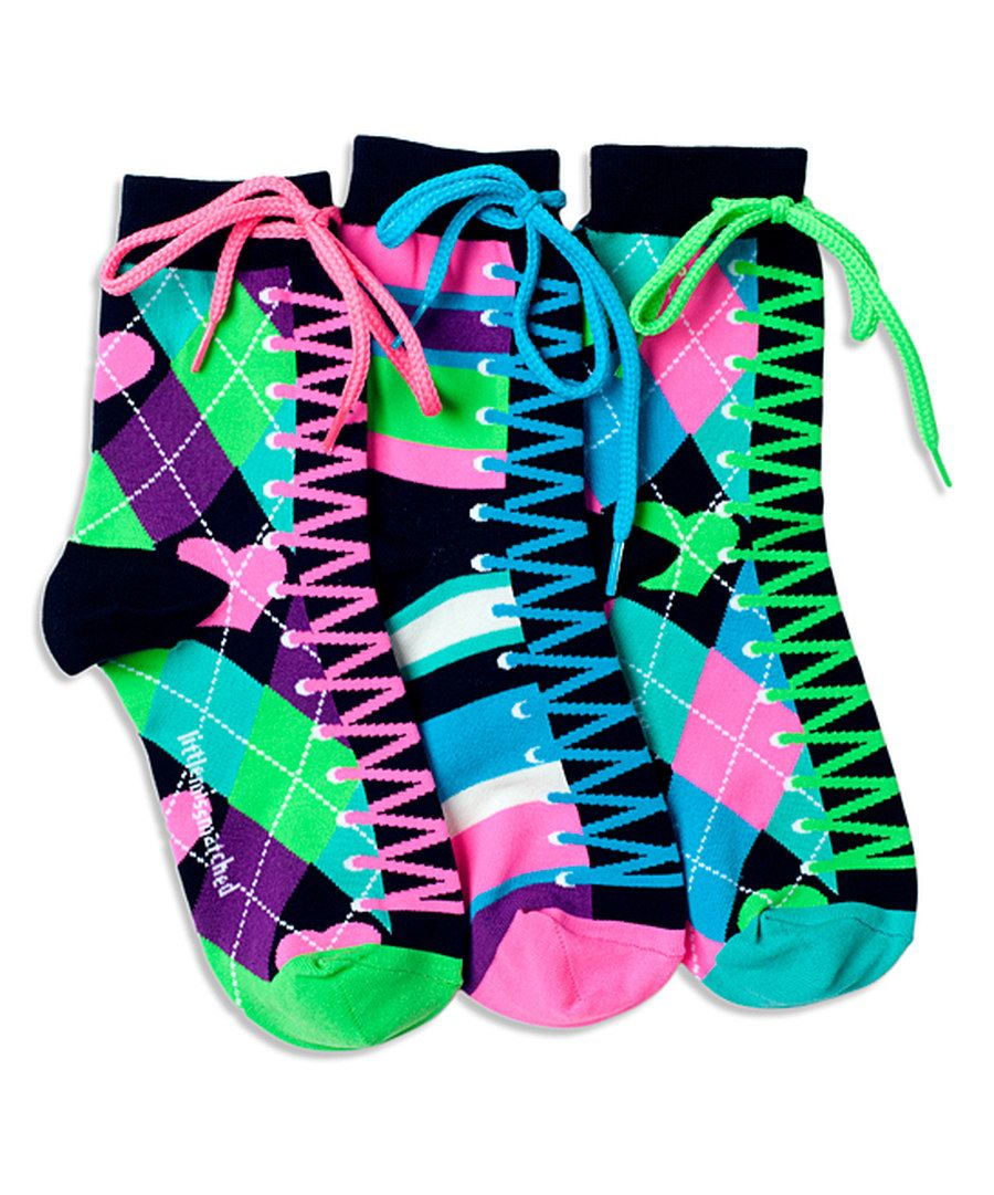 Look at this LittleMissMatched Purple & Pink Argyle Sneaker Anklet Socks Set on #zulily today!