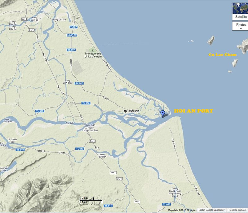 images of cu lao may island vietnam map Location of the Port of