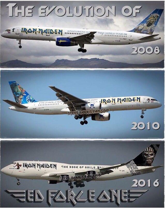 The Evolution Of Ed Force One Iron Maiden Iron Maiden Iron