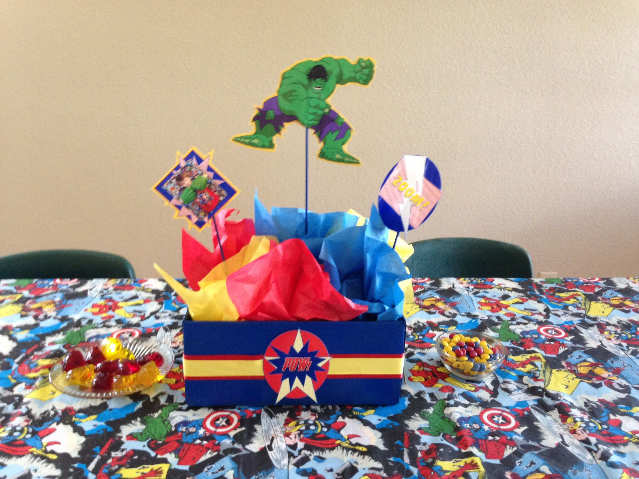 Avengers Party Decorations Avengers Centerpieces Avengers Birthday Party Pinterest