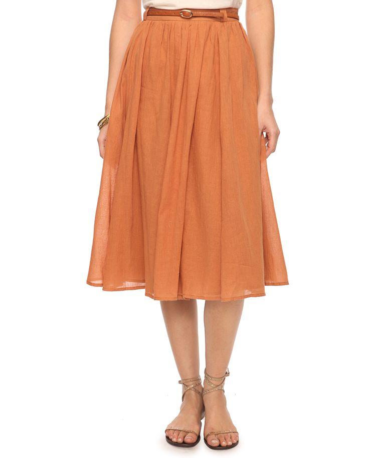 605e7349fc6 Calf Length A-Line Skirt  19.81 XXI
