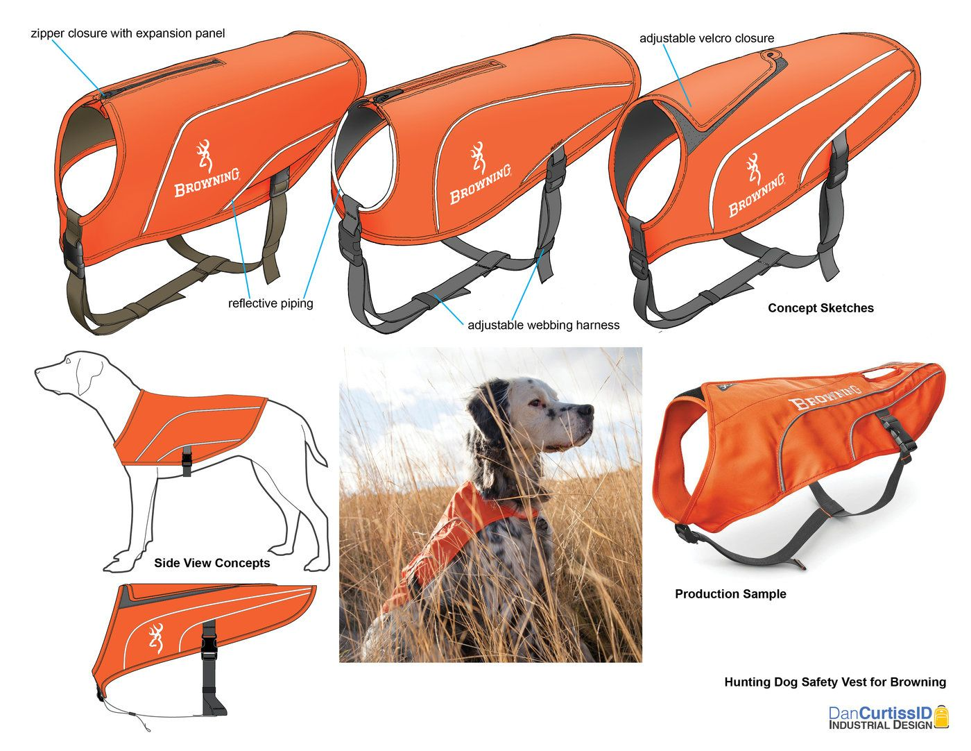 Safety Vest and Skid Plate for Hunting Dogs by Dan Curtiss