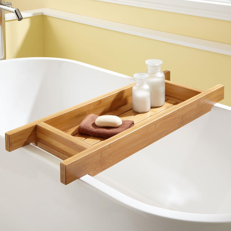 bathtub caddy | tub caddies and bathtub shelves 33 hancock bamboo tub caddy