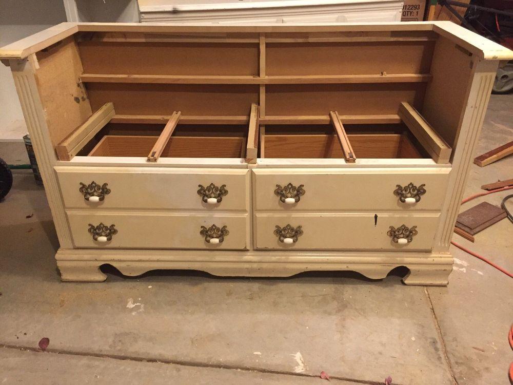 Repurposed Dresser To Bench Repurposed Dresser Recycled Dresser