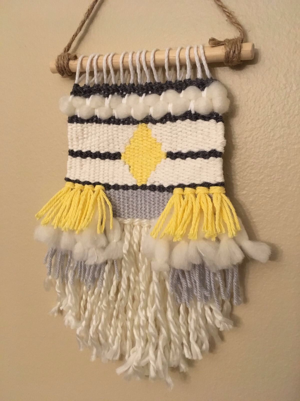 Woven wall hanging | MY BEAD & KNOT | Pinterest