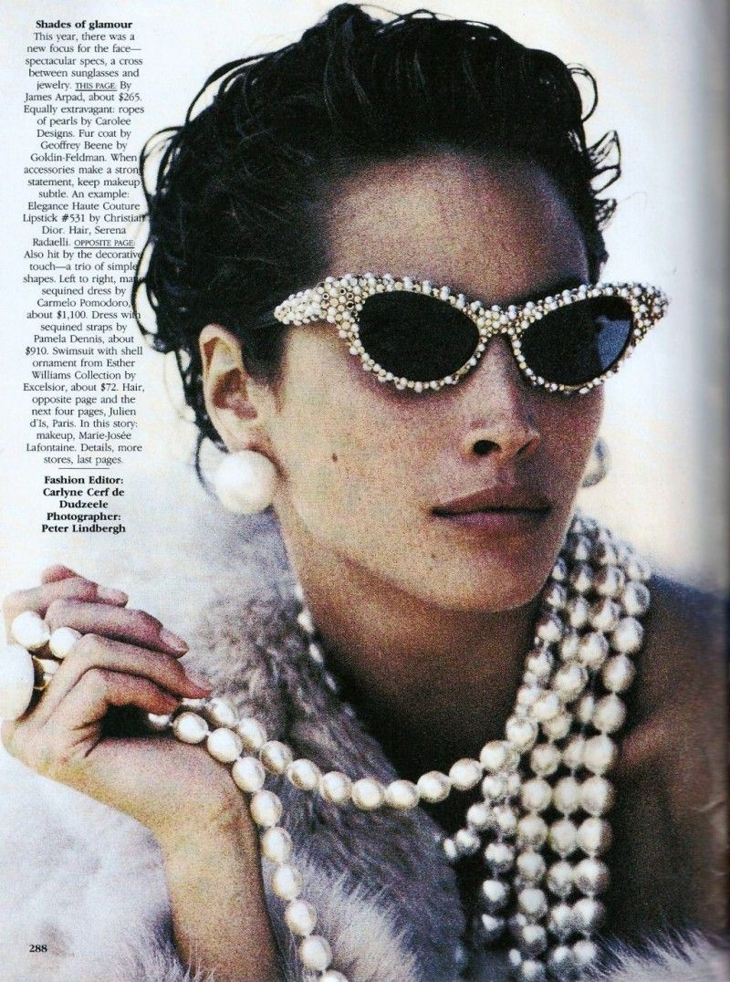 Christy turlington by peter lindbergh embellished sunglasses
