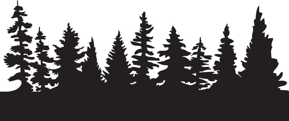 Fir Tree Clipart Forest 5 1165 X 487 Pine Tree Silhouette Tree Outline Tree Stencil