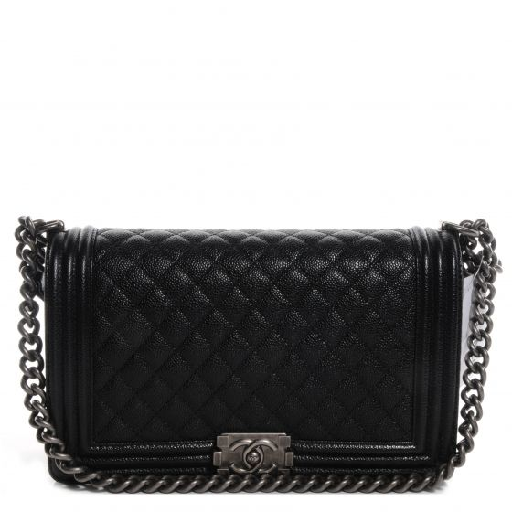 07e1f8bb2ad2 This is an authentic CHANEL Caviar Medium Boy Flap Bag in Black NEW. This  stylish shoulder bag is crafted of luxuriously diamond quilted caviar  leather and ...
