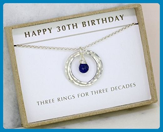 30th Birthday Gift Idea Sapphire Necklace September For