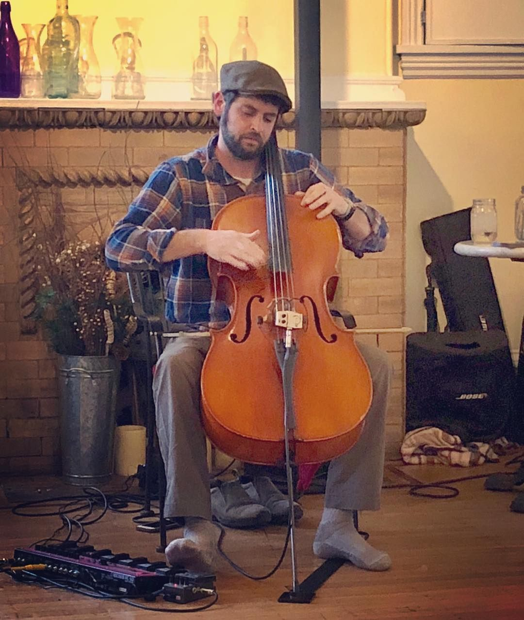 wbw to doin that cello thang at @caffegallerianj a few weeks