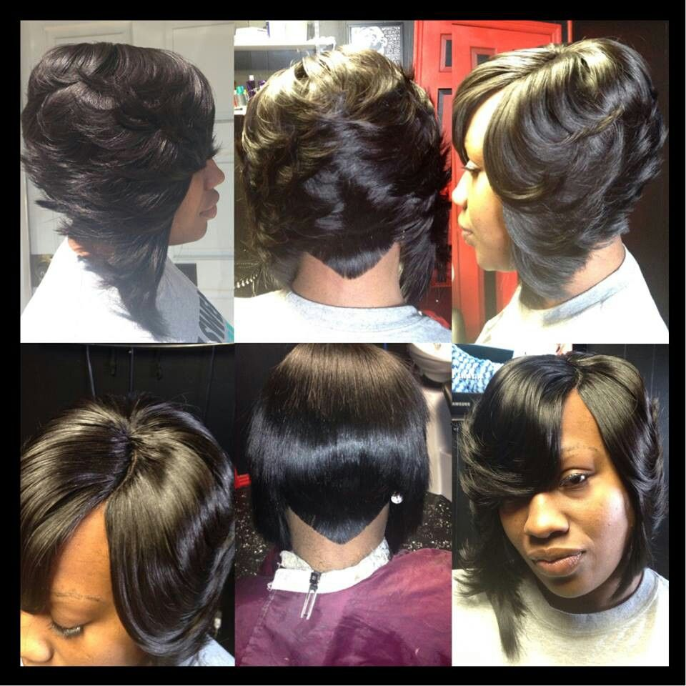 quickweave layered bob | hair | quick weave hairstyles