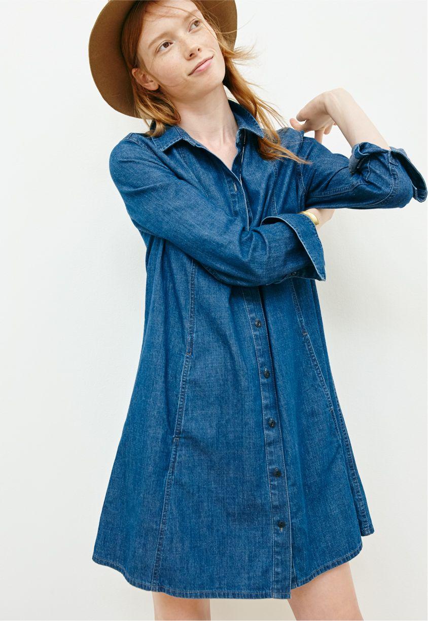 9e66091ac97 madewell a-line denim shirtdress.