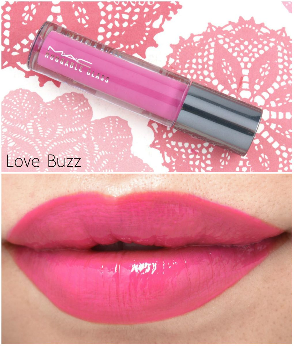 MAC Huggable Glass Lip Gloss Review and Swatches Swatch