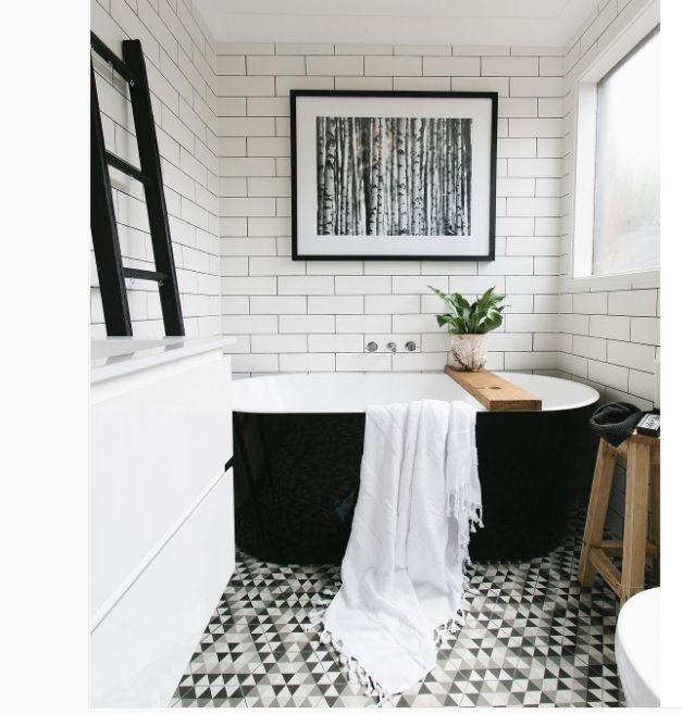 Inspiratieboost: een ladder in de badkamer | Bathroom ideas | Pinterest
