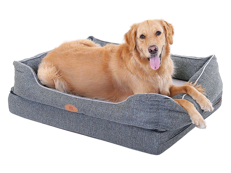 New Pls Birdsong Fusion Orthopedic Dog Bed With Plush Bolster