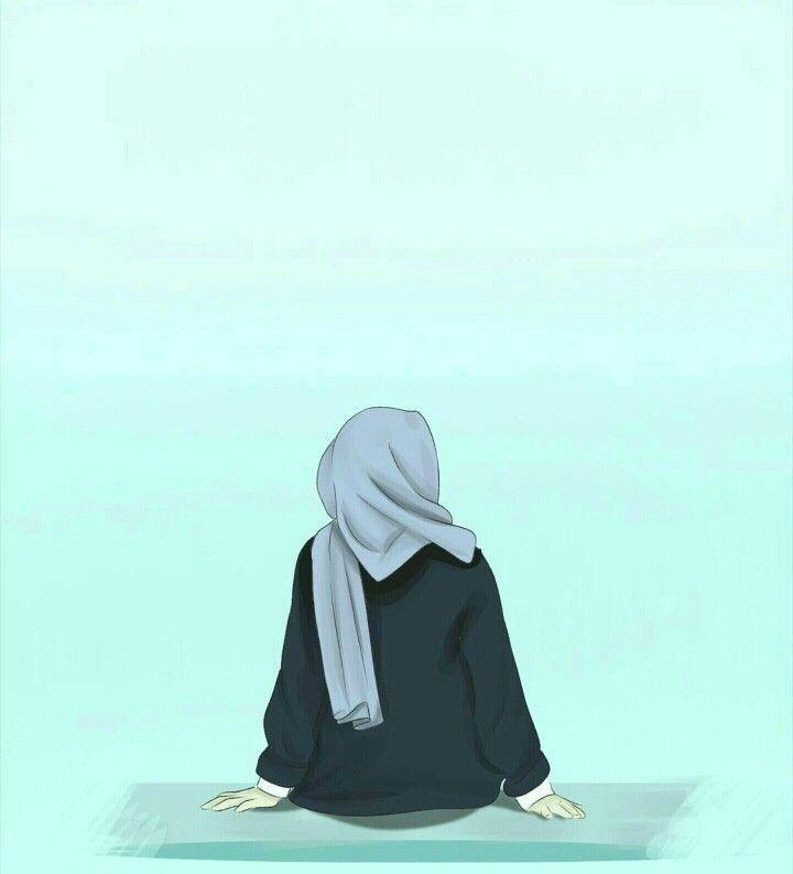 Wallpaper Aesthetic Girl Hijab Hitam Novocom Top