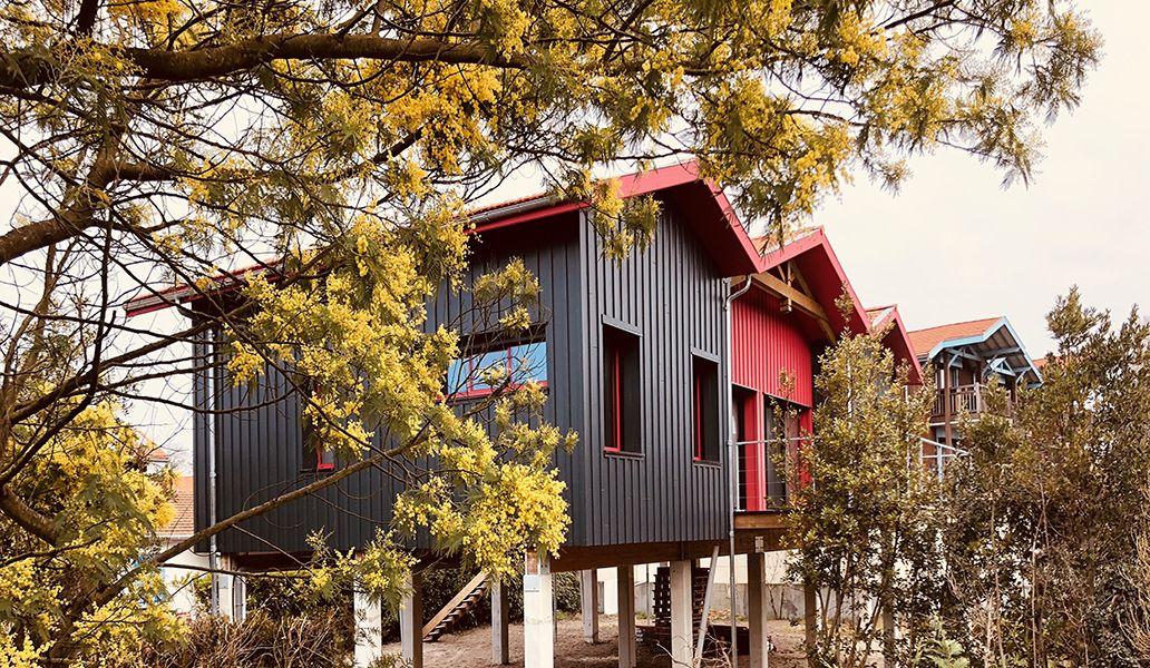 Maison bois design de 110 m² by PopUp House dans le bassin d