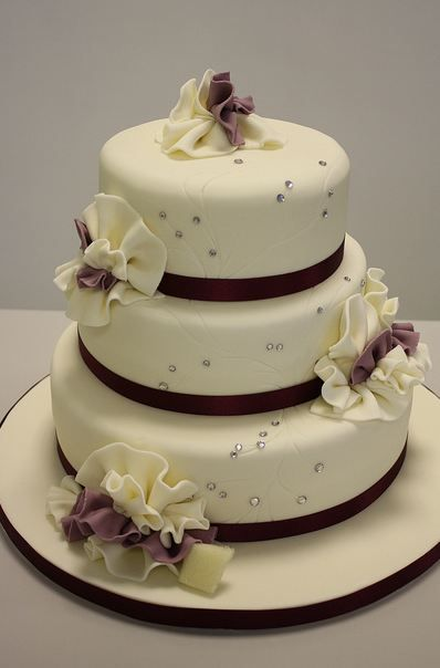 Cool Round Cakes Tier Round Elegant Ivory Wedding Cake With Ruffles Personalised Birthday Cards Akebfashionlily Jamesorg
