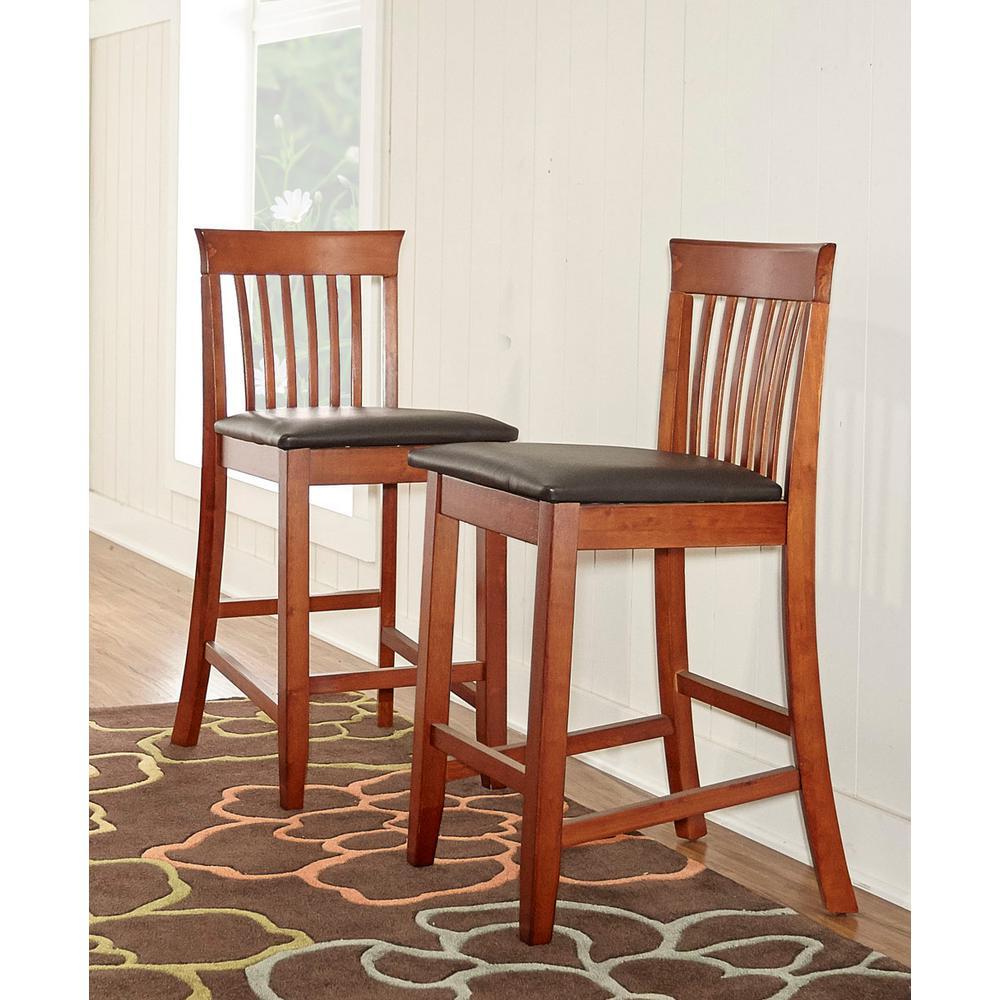 Linon Home Decor Triena Craftsman Counter Stool 01857dkchy 01 Kd U
