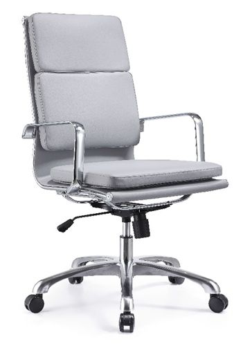 hendrix high back gray leather office chair by woodstock grey and