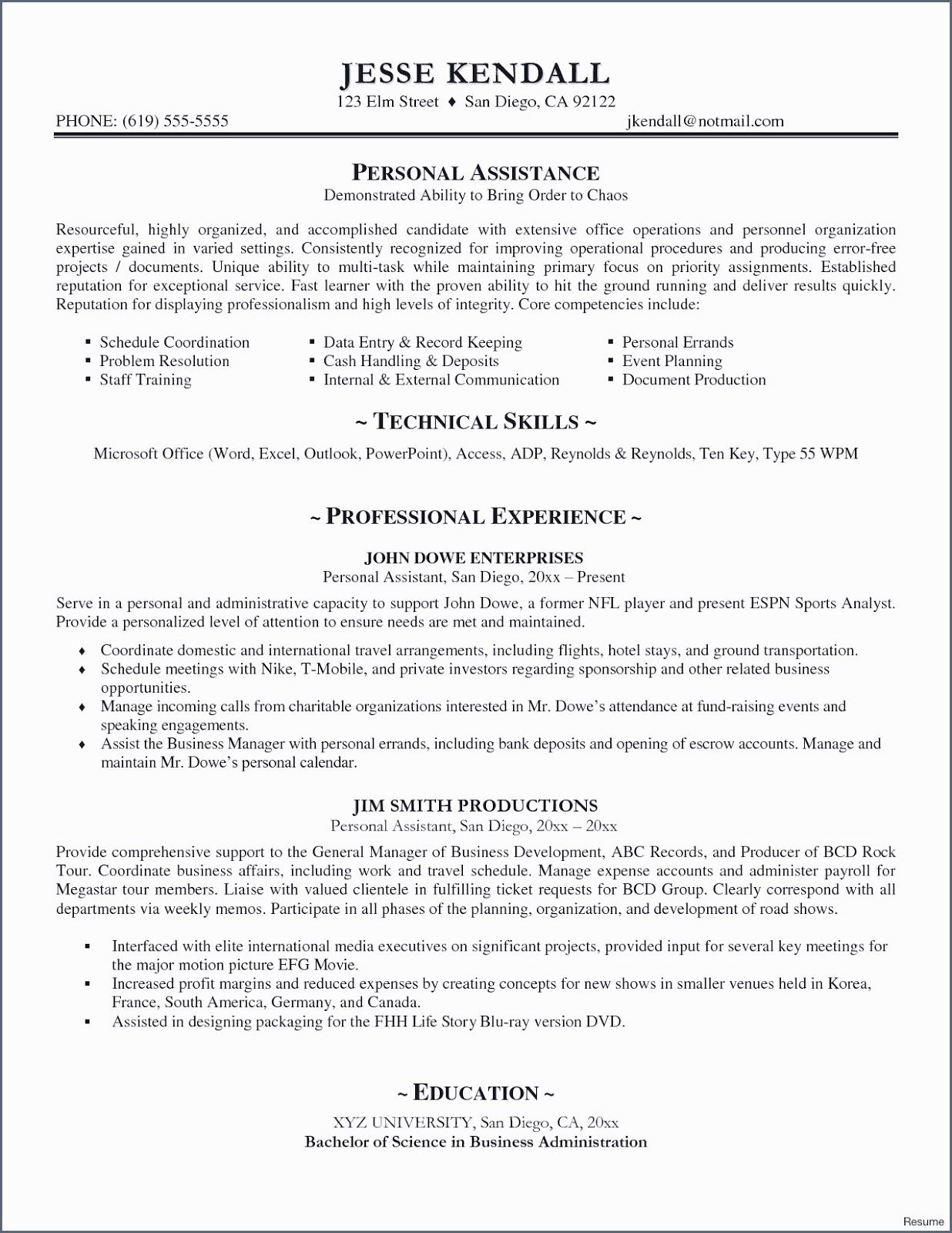 Personal Assistant Resume Samples Personal Assistant Resume Samples Personal Assistant Re Event Planning Quotes Business Resume Template Resume Template Free