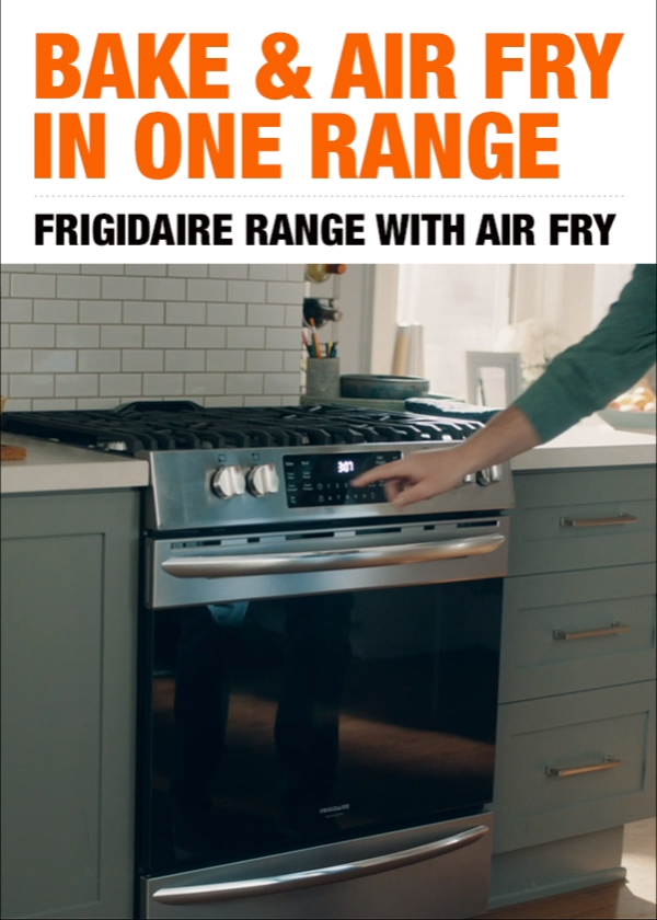 Air fry right in the Frigidaire range for delicious, health-conscious flavor. Discover an alternative way to cook your favorites that doesn't require an additional appliance. Click to shop now at The Home Depot.