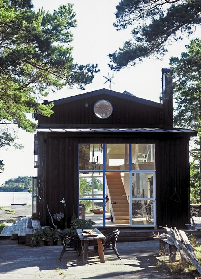 House Call: Swedish Cabin: Remodelista High Platfrom Bed, With Hamock And  Window Out