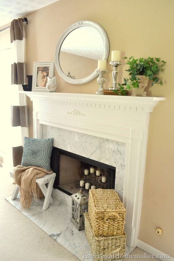 Great Nice Traditional Decorated Mantel   1 Mantel Decorated 5 Ways In 5 Days...  By ...