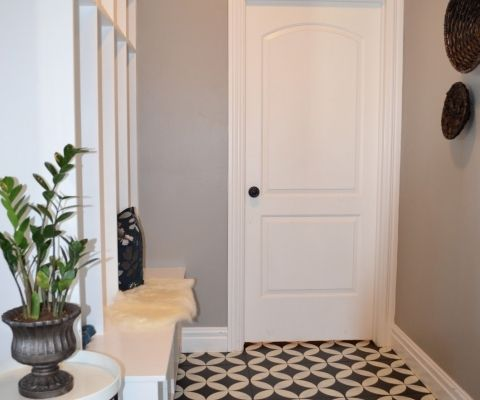 Wow! Have y'all seen Beth's bathroom makeover? I loooove that cement tile she used! And speaking of tile…I was at Robert F Henry Tile here in Montgomery yesterday, and I saw this similar-looking one: I was shocked when the saleswoman told me it was ceramic! They had it in gray too: I did a quick …