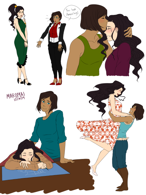 More Korrasami Qwq Drawing Them Makes Me So Happy -9824