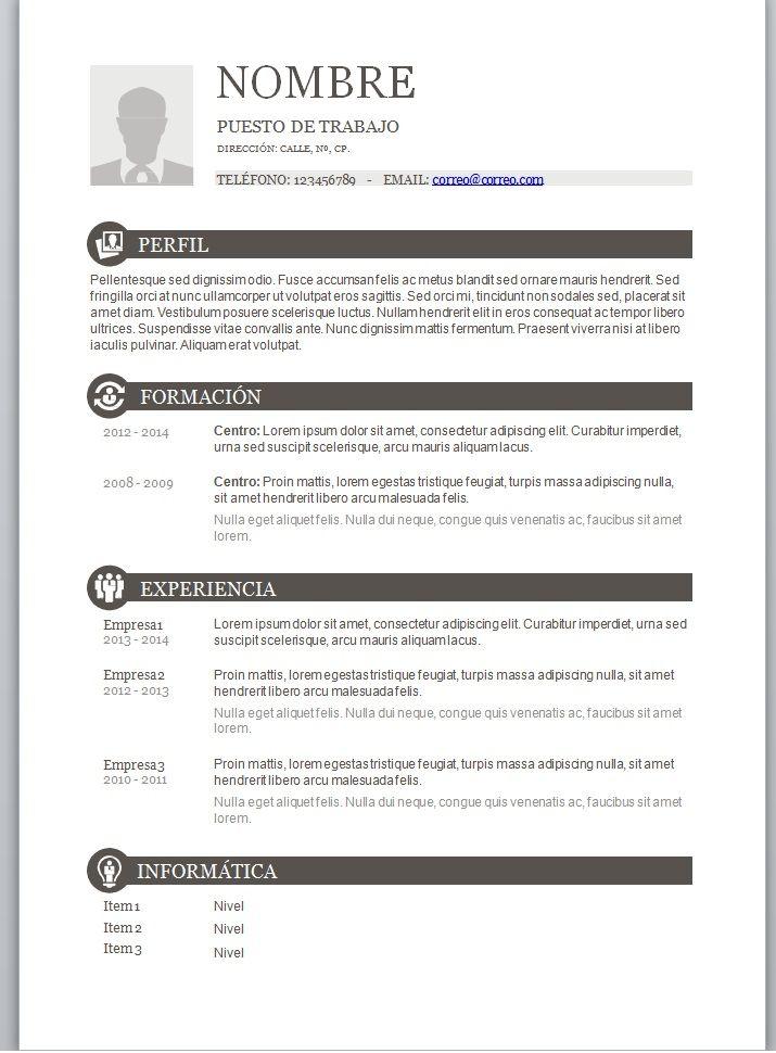 Formato De Curriculum Vitae Word