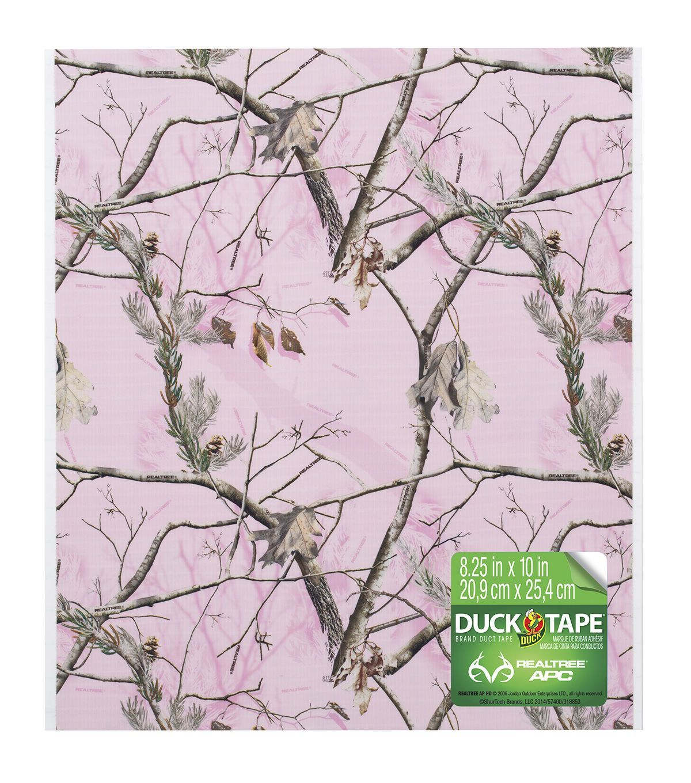 "Duck Tape Sheets Bulk 8.25""X10""Pink Camouflage 6pk Jo"
