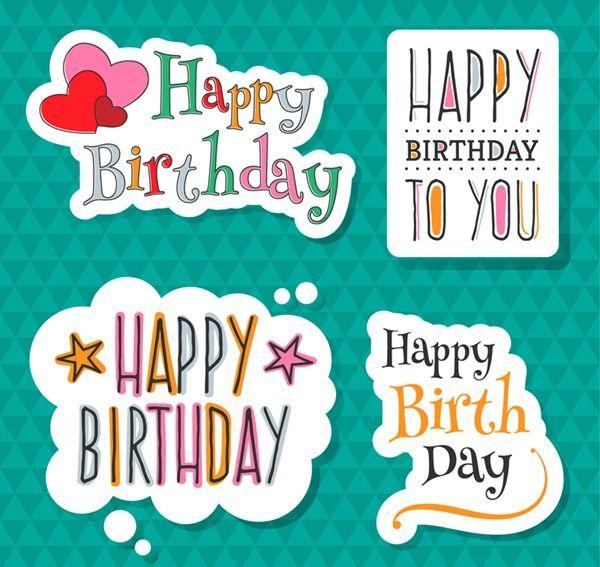 Birthday Sticker Vector