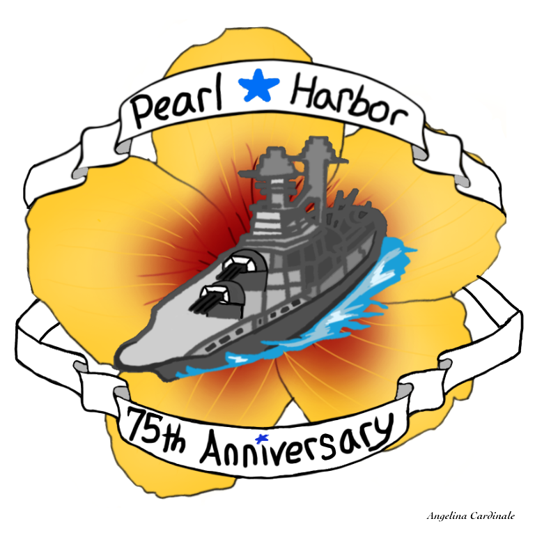 A design I made for my band who went to pearl harbor to honor our fallen soldiers. Sadly my design wasnt used for out shirts, but I still am proud of what I created