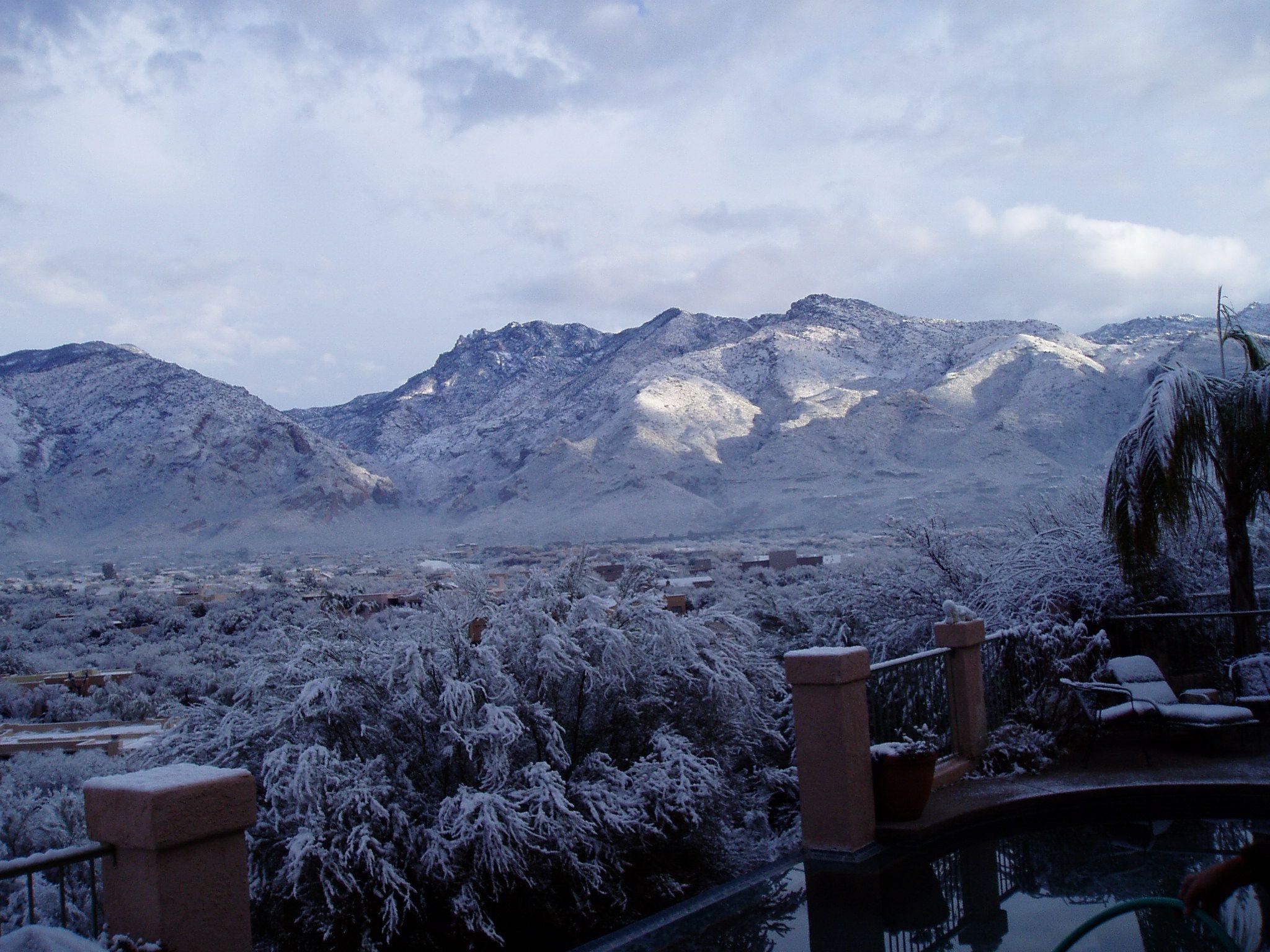 Snow even in Arizona. Beautiful!