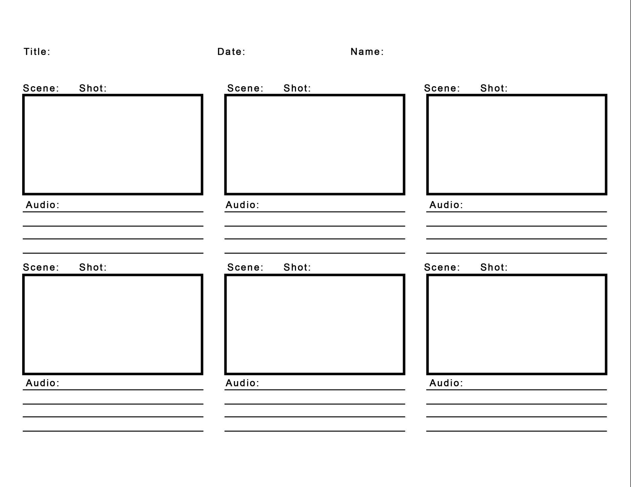 Storyboard Template Storyboard Template Templates Storyboard