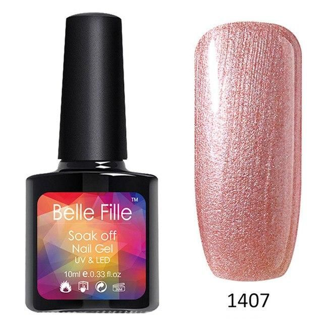 0412a3d43e BELLE FILLE Bling UV Gel Polish 10ml Soak Off Gel Nail Polish Gel ...