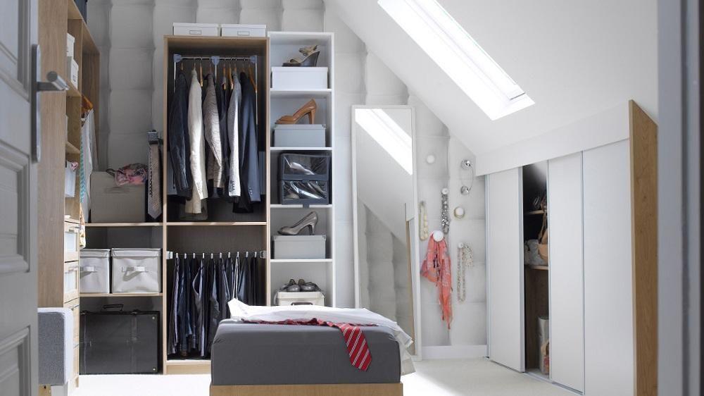 Dossier Le Rangement Du Dressing Dressing Sous Combles Meuble Rangement Et Amenagement Dressing