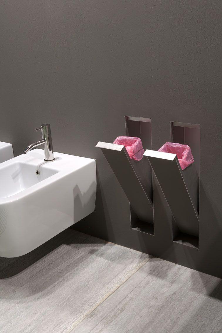 Fliesen ideen um badezimmer eitelkeit lösung für wäscheschacht  bad  pinterest  wäscheschacht